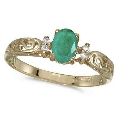 Antique Engagement Ring Emerald 6