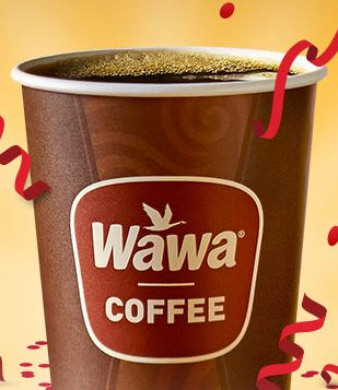 Stop by Wawa on Thursday April 14 for FREE Coffee, any size, all day. Celebrate Wawa Day!