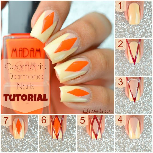Best 25 diamond nail art ideas on pinterest diamond nail today i have a pretty cool geometric design nail art to share with you prinsesfo Gallery