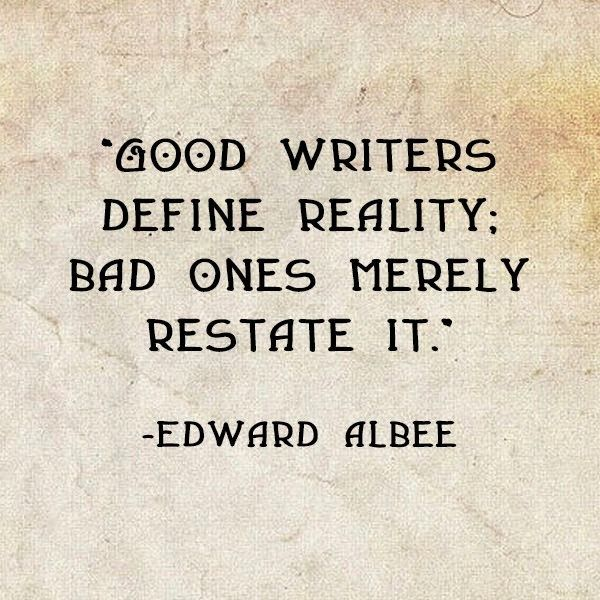 That is of course if your writing reality, which I'm not sure many of you are. But let's say you are, and then this is more useful