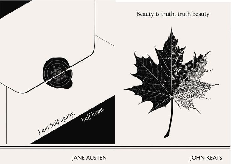 Jane Austen and John Keats. Link leads to: Lovely Literary Art Prints featuring quotes by famous authors