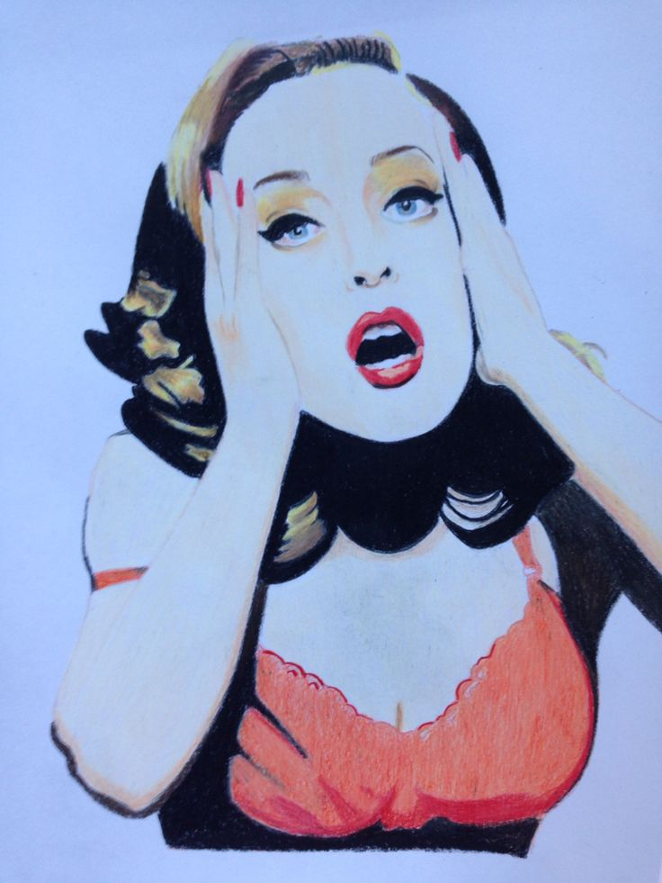 My drawing of Gillian Anderson