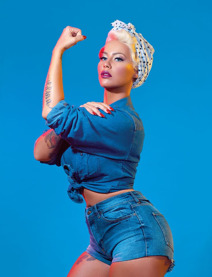 Amber Rose Breaks the Internet Channeling Feminists Icons for PAPER Magazine