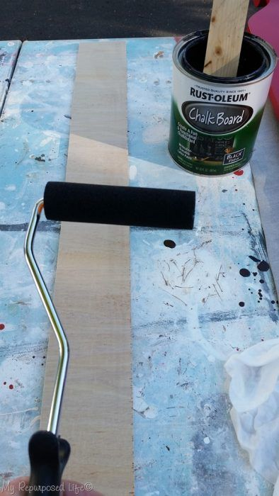 How to make small chalkboard tags