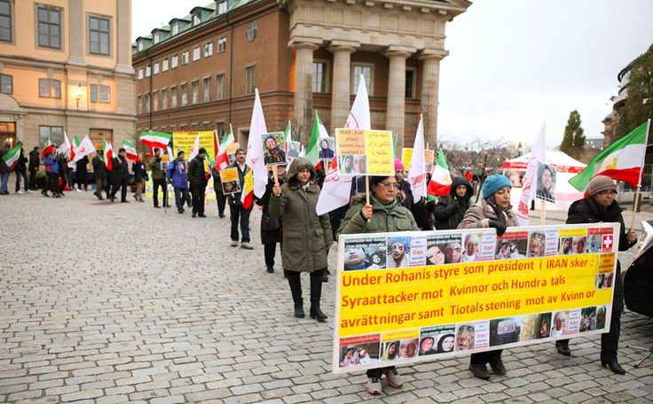November 8, 2014-Iranians in Stockholm protest the executions and  the acid attacks on women in Iran. They condemn the medical siege on Camp Liberty, which has resulted in 22 deaths till now.
