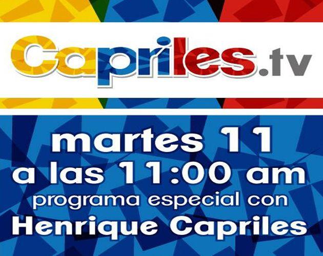 Gobernador de Miranda estrenará este martes un programa matutino por Caprilestv