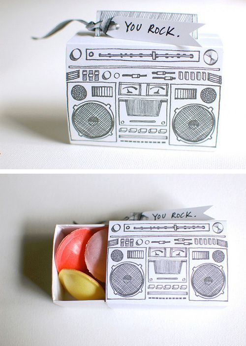 Cricut Inspiration - Design Your Own Custom Boombox and Cricut Explore Will Draw Your Design On Paper and You can Wrap Around A Matchbox * So Cool!