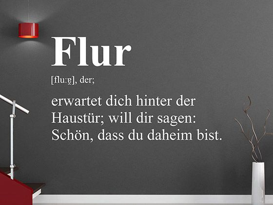Wandtattoo Flur Definition