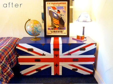 25 best ideas about union jack dresser on pinterest for Union jack bedroom ideas