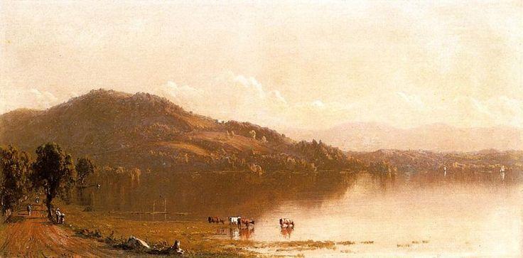 olana photos | ... Sanford Robinson Gifford Mt. Merino on the Hudson near Olana Painting