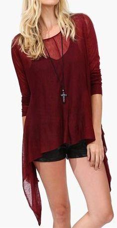Burgundy Hipster Sweater <3