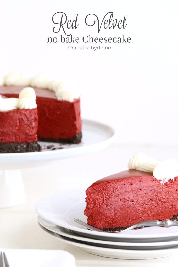 a delicious creamy and gorgeous red velvet cheesecake perfect for any occasion or celebration.