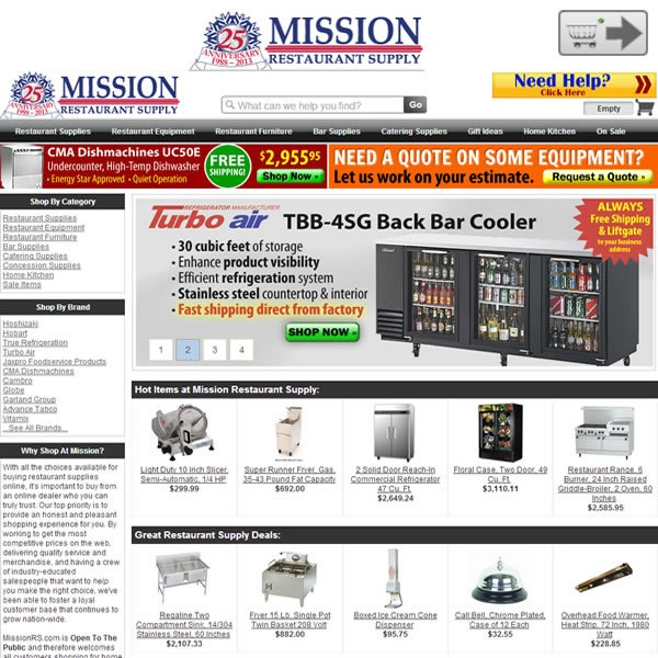 Mission Restaurant Supply | Online stores for Small business products