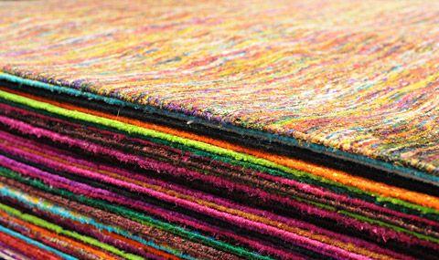 Decorative lines of a carpet-pile, photo © Domotex