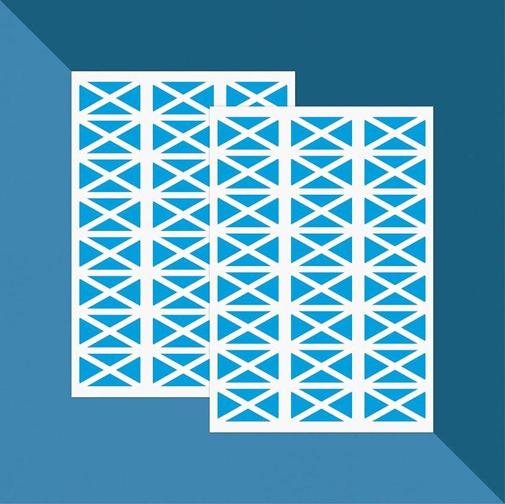 Scotland Flag (Saint Andrew's Cross) - Stickers x 48 // Teacher Stickers: Amazon.co.uk: Handmade