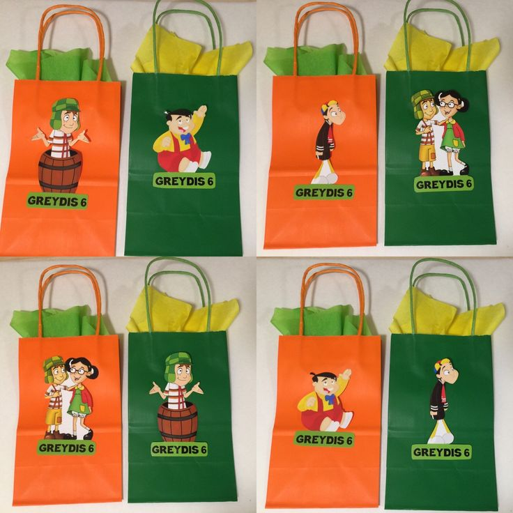 A personal favorite from my Etsy shop https://www.etsy.com/listing/290323717/chavo-del-ocho-party-bags-12