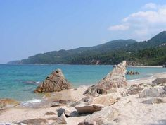 Vourvourou beach, Peninsula of Sithonia, Halkidiki, Northern Greece
