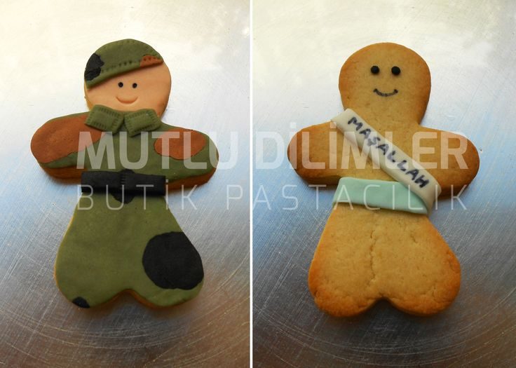 Soldier cookie & Sunna cookie Asker kurabiyesi & Sünnet kurabiyesi