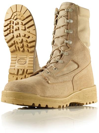 Wellco Mens 8 Inch Hot Weather Steel Toe Desert Combat Boots # T161