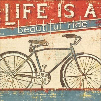 'Life Is a beautiful Ride' Shower Curtain