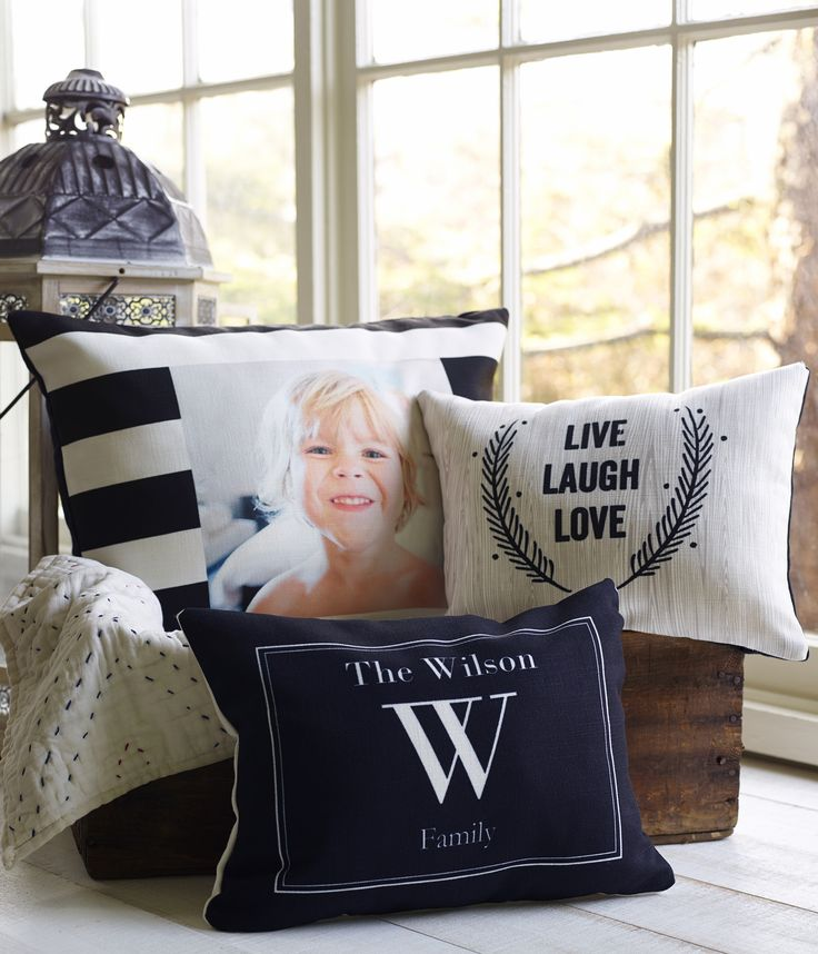 Customize your home decor with a personal pillow. From a favorite photo to a bold monogram, choose a design that is the perfect accent to any cozy corner. Check out the variety of sizes and make your own now.