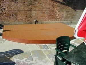 pool cover with Lumberock