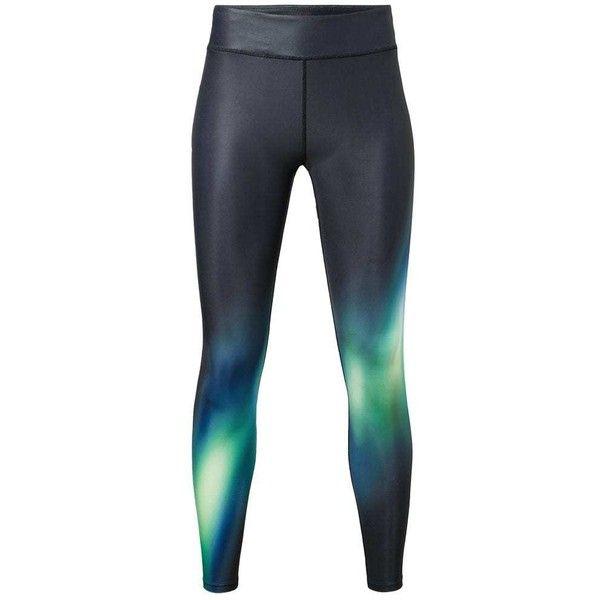 Slimming Effect Leggings (€33) ❤ liked on Polyvore featuring pants, leggings, elastic waist pants, elastic waistband pants, sports pants, slim pants and sport leggings