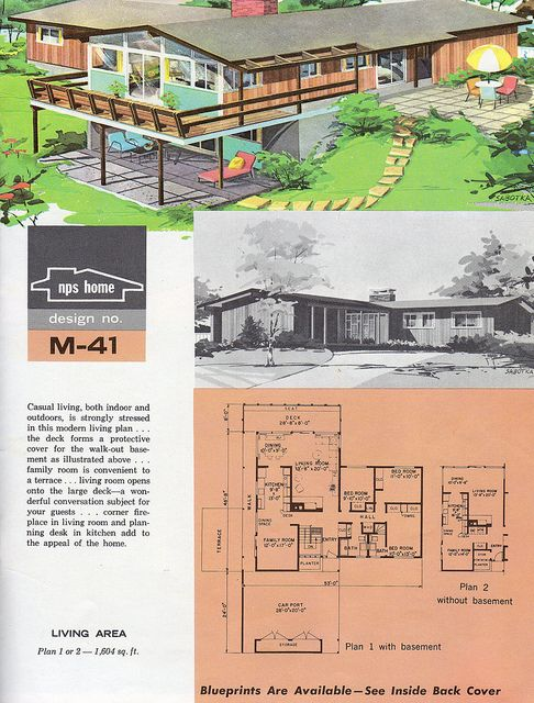 109 best images about retro house plans on pinterest for Moderate house plans