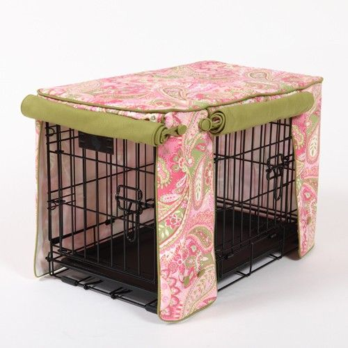 dog crate coverPretty In Pink, Double Doors, Pets, Dog Crates, Leaf Cords, Large Dogs Crates Covers, Cords Double, Diy Dogs, Crafts