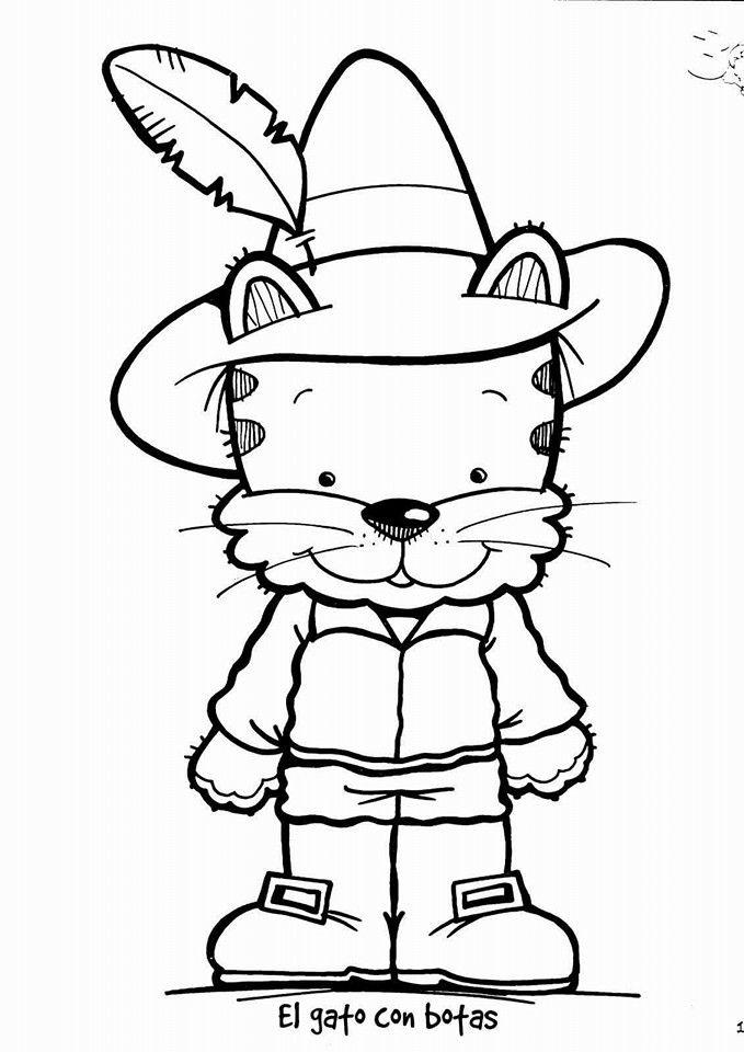 500 Dibujos Para Colorear Gato Con Botas Dibujos Dibujos Para Colorear