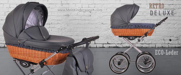Kombikinderwagen Retro Deluxe in Eco Leder