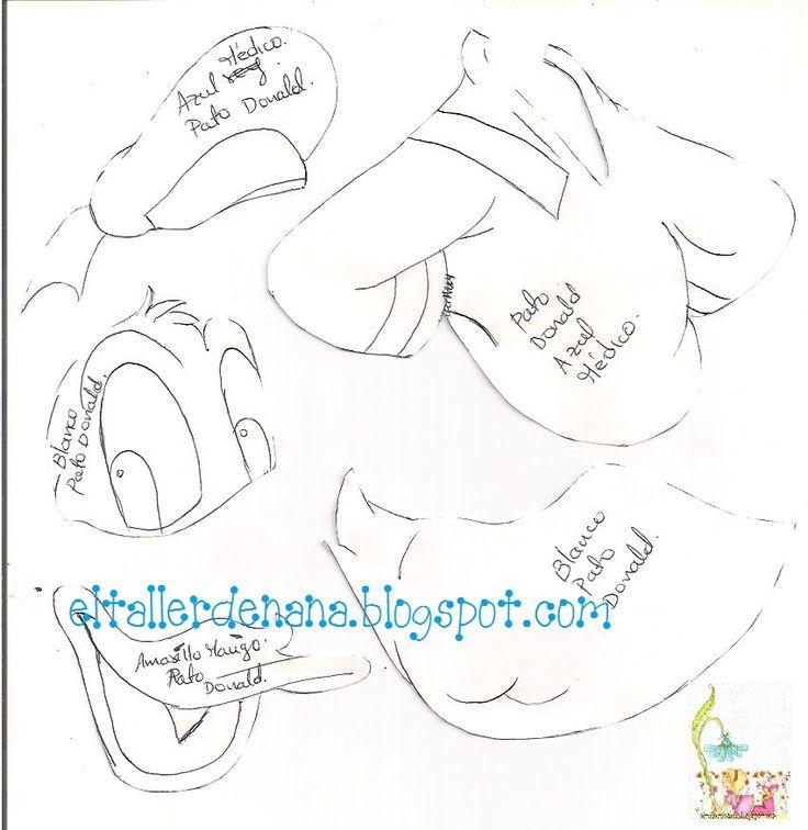 Pato Donald goma eva 3
