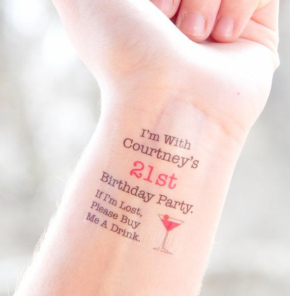 21st Birthday Party Temporary Tattoos 21st by SymbolicImports