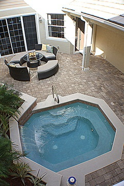 We want the pool moved to the right side when you are facing the back of the house. A pool level landing about half way down with a gated off pool area with the stairs continuing down to the ground level. Does this count against our footprint square footage?