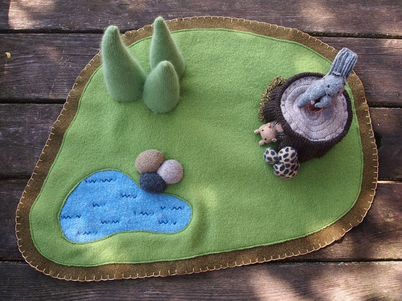 Waldorf wool playmat by EvesLIttleEarthlings