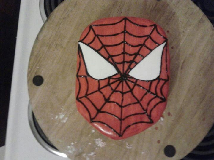 Spiderman cake, made by me for my son.