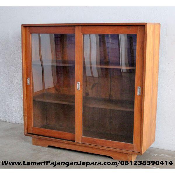 Jual Lemari Rak Buku Jati Minimalis Kaca merupakan Produk Mebel asli dari Jepara Desain Minimalis yang cantik untuk Lemari Rak Buku Minimalis Pintu Sliding