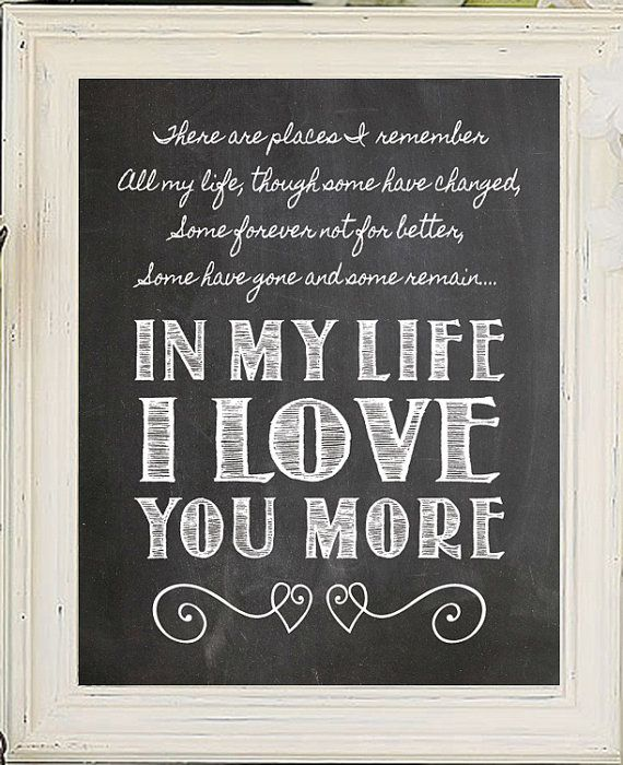 IN MY LIFE Beatles Song Lyric Quote Digital by JandSGraphics