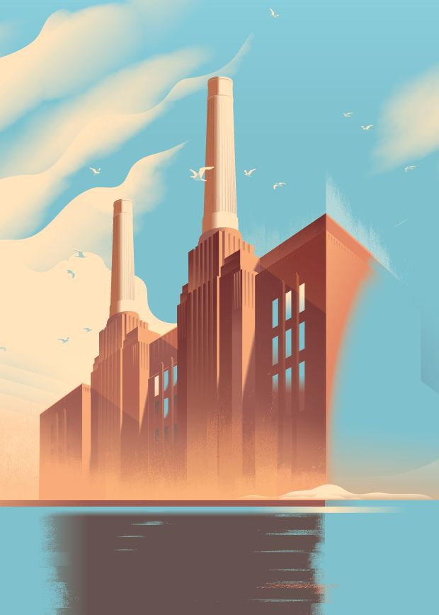 Posters and visual identity for iconic housing project Battersea PowerStation, London