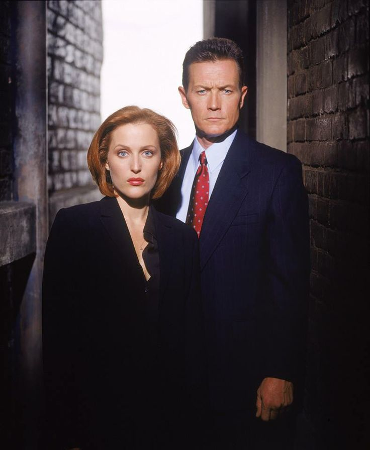 Gillian Anderson as Dana Scully (seasons 1–9, main). Scully is an FBI special agent, medical doctor and Robert Patrick as John Doggett (seasons 8–9, main). Doggett is an FBI special agent in The X-Files