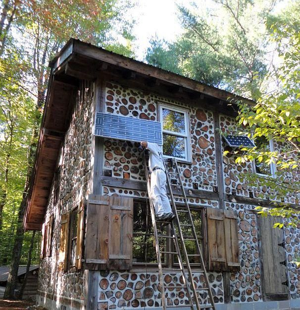 32 best casas images on pinterest home layouts small spaces and rh pinterest com Rob Roy Cordwood Home Plans wiring a cordwood home