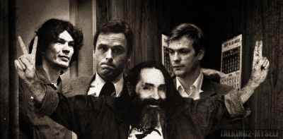 Serial killers Richard Ramirez, Ted Bundy & Jeffrey Dahmer with Charles Manson. Found on  talking2-myself.tumblr.com