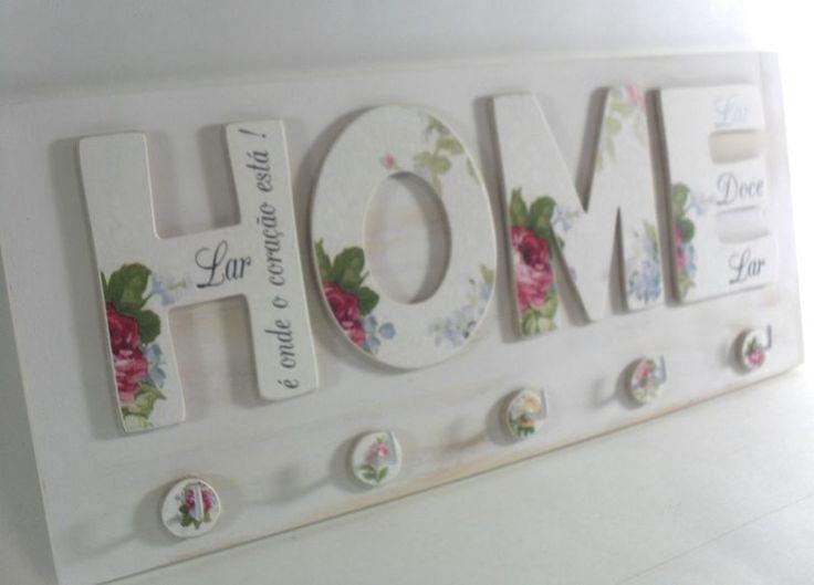 Porta Chaves HOME - Quintal das Cores