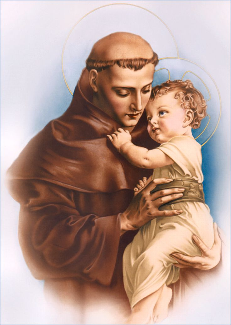 St Anthony of Padua | http://www.saintnook.com/saints/anthony-of-padua/ | POSTER IMAGE