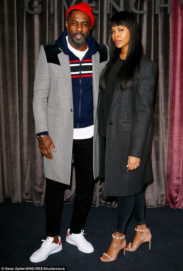 Smitten: Idris Elba appeared in high spirits as he was joined by his fiancée Sabrina Dhowr...