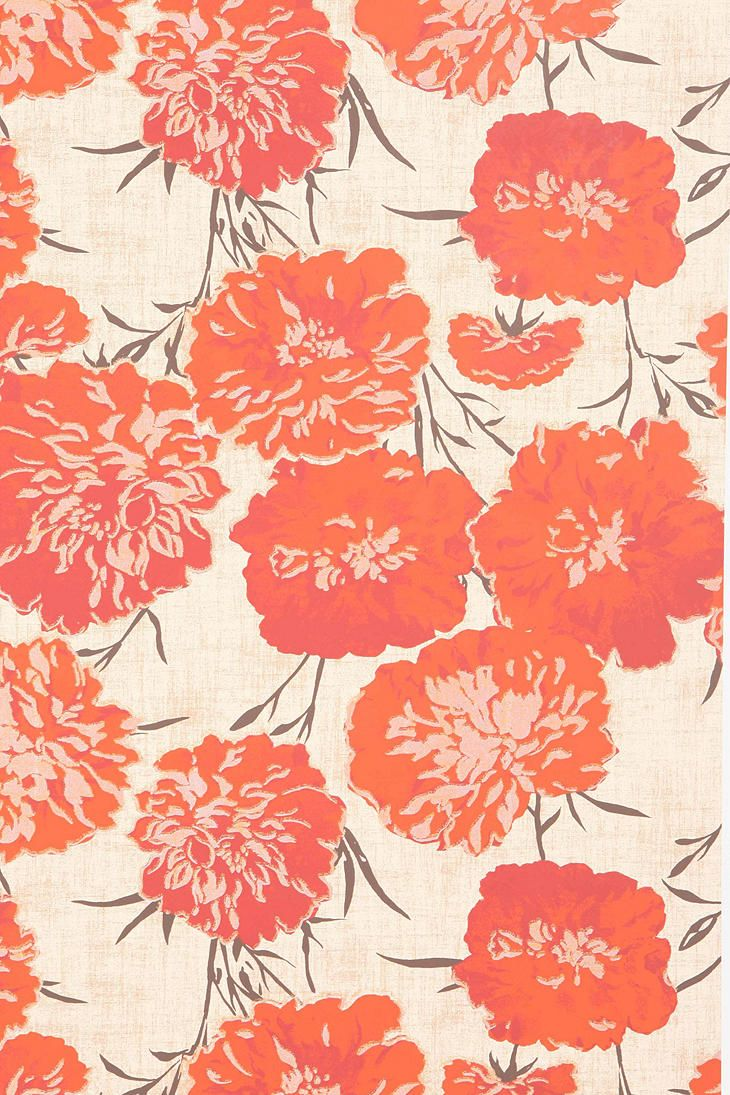 Peony Wallpaper pattern design art color