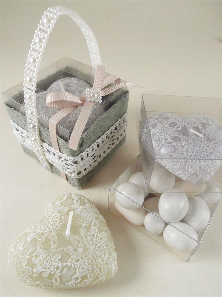 Candele a forma di cuore per la tua bomboniera matrimonio. Mille idee per il fai da te su shopguerrini.com