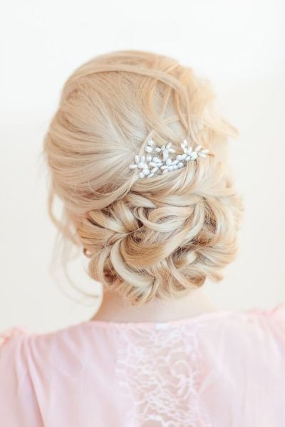 elegancka fryzury weselna