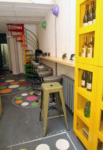 Tolix bar stool, spotted at Gelato mio, in Bucharest Romania