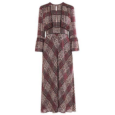 Buy L.K. Bennett Alys Silk Maxi Dress, Ruby Online at johnlewis.com